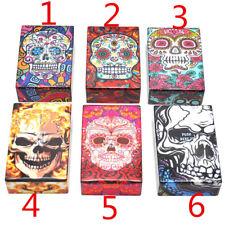1 X  Skull Plastic Cigarette Box Holder Pocket Tobacco Storage Hard Case