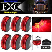 6 X LED Clearance Lights Side Marker Lamp Red Trailer Truck Caravan Multi Volt