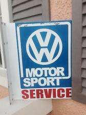 vintage volkswagen vw dealer double sided metal flange sign 18 inches