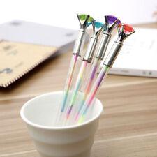 Xmas Cute Rainbow Diamond Head Crystal Ball Pen Pen Creative Stationery Gift New