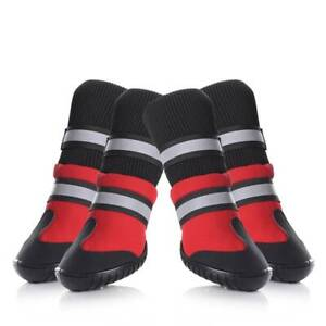 Petacc Pet Dog Shoes Dog Boots Anti-Slip High-top Puppy Snow Boots L