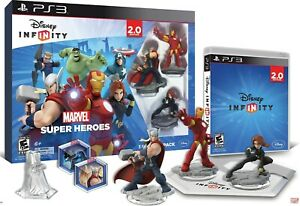 Disney INFINITY PS3 Marvel Super Heroes 2.0 Edition Starter Pack Avengers New