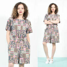 Women's Scoop Neck Short Sleeve Cotton Jumpsuits & Playsuits
