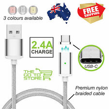 2.4A USB Type C Charging Cable Magnetic Adapter Sync Fast Charger Magnet Android