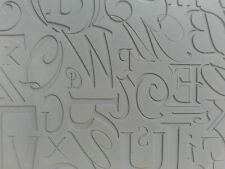 Unmounted A2 Stamp for Polymer Clay ~ CALLIGRAPHIC ~ PrintMakers Rubber Stamp
