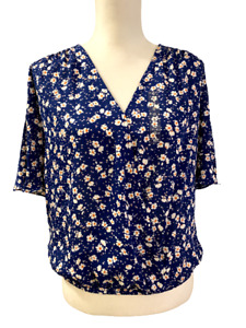 NEW Collective Concepts from Stitch Fix Red White Blue Gold Floral Top Small
