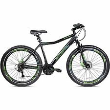 "27.5"" Mens Kent Hardtail Mountain Bike Gray Oversized Aluminium Frame 21 Speed"