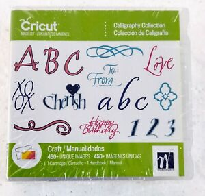"""CRICUT ART CARTRIDGE """"CALLIGRAPHY COLLECTION"""" - 450 Images"""