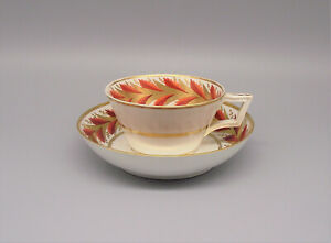 Antique 19thC Derby Porcelain Cup & Saucer circa 1810
