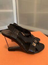 PORTOFINO ° chice PUMPS Gr. 38 schwarz Leder Keilabsatz Damen Schuhe Wedges TOP   eBay