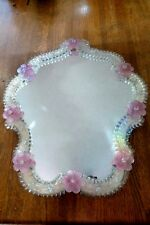 Murano Glass Mirror - Vanity Table Top - Hand Made Italian Design - Antique