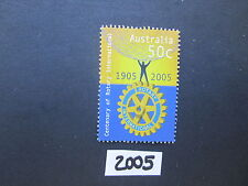 Australian Stamps: 2005 Centenary of Rotary INternational Sheet used