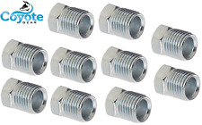 """10 Pack Lot 3/8"""" Tube x 5/8-18 Flare Thread Inverted Steel Nut Fittings Made USA"""