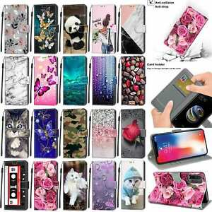 Flip Phone Case For Samsung A40 A50 A70 S7 S8 S9 S10 Plus Leather Wallet Cover