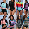 Women Long Sleeve UV Sun Protection UPF 50+ Rash Guard Top Surfing Swim Shirt