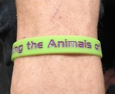 Purple Poppy 'Remembering the Animals of War' Silicone Wristband.