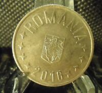CIRCULATED 2016 50 BANI ROMANIAN COIN (90818)2.....FREE DOMESTIC SHIPPING!!!!!