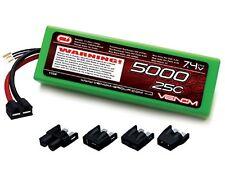 New Venom LiPo 2S 7.4V 5000mAh 25C LIPO BATTERY TRX DEANS EC3 TAMIYA CONNECTER