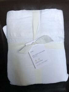 Pottery Barn Belgian Flax Linen King Sheets 4 Piece Set White NWT New