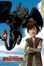 HOW TO TRAIN YOUR DRAGON MOVIE POSTER ~ DUO DEFENDERS 24x36 Cartoon Toothless 2
