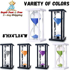 60 Minutes Hourglass Timer Finest Wood Elegant Glass Sand Clock 8 x 4 x 4 Inch