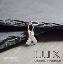 1 x Sterling Silver 925 Charity Awareness Ribbon Remembrance Charm Pendant