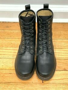 Frye Veronica Combat Boots (Black Leather)