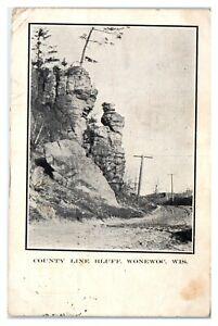 Early 1900s County Line Bluff, Wonewoc, WI Postcard *6E(3)3