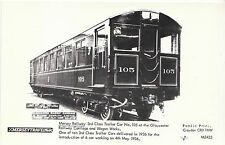 Railway Postcard - Mersey Railway - 3rd Class Trailer Car No 105   V2244
