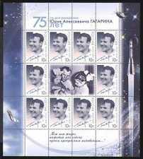 Rusia 2009 Gagarin/espacio/Satélite/Luna 10v Sht n25885