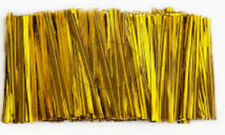 "Metallic Gold Twist Ties ""3"" length 10,000 count For Cello Bags"