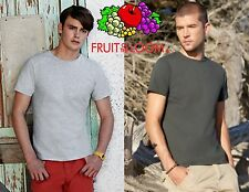 STOCK 10 pezzi FRUIT OF THE LOOM T-shirt ADERENTE manica corta UOMO in 9 COLORI