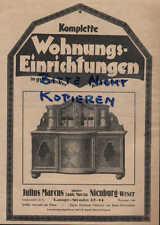Werbung: NIENBURG,1928, Julius Marcus Wohnungseinrichtungen Tischlerei Polsterei