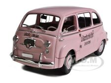 FIAT 600D 600 MULTIPLA PINK LA GAZETTA DELLO SPORT 1/18 BY UNIQUE REPLICAS 74308