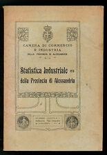 STATISTICA INDUSTRIALE DELLA PROVINCIA DI ALESSANDRIA GAZZOTTI 1913