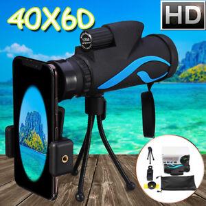 40X60 Zoom Telescope Telephoto Camera Lens Monocular Phone Holder Mount +