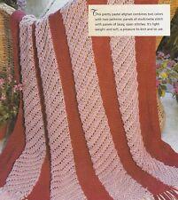 Knitting Pattern ~ Raspberry Rose Afghan ~ Instructions