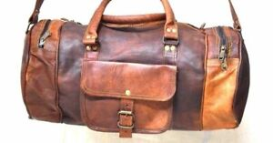 Leather Travel Bag Duffle Weekend Men Luggage Vintage Gym S Genuine Overnight