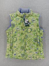 NWT LL Bean Goose Down Green Dots Vest (Girls XL - 18)