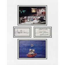 Fred Haise and Eugene Kranz Apollo 13 Signed 11x14 Matted Display