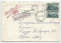 1958 double rate airmail cover DC to Italy returned for postage [4742]