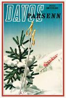 Davos Parsenn Suisse Switzerland Schweiz Blechschild Schild Tin Sign 20 x 30 cm