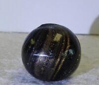 #11791m Vintage German Black Mist Lutz Marble .69 Inches