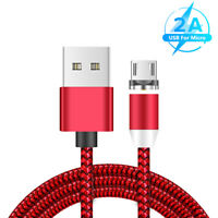 CABLE MICRO USB MAGNETIQUE 2M CABLE DE CHARGEMENT RAPIDE SAMSUNG HTC ANDROID AA
