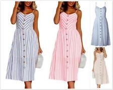 WHOLESALE BULK LOT 10 MIXED COLOUR SIZE 50'S Vintage Retro Stripes Dress dr194