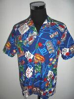 ALOHA REPUBLIC Hawaii Hemd hawaiihemd casino gamble surf shirt made in USA L