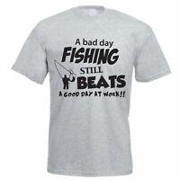 BAD DAY FISHING - Fish / Sport / Fly / Fresh / Funny / Gift Idea Mens T-Shirt