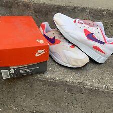 Vintage 90s 1992 Nike Pantheon White Prism Violet Crimson Sneakers Size 8.5