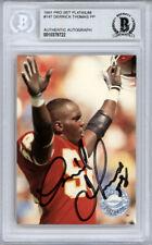Derrick Thomas Autographed 1991 Pro Set Platinum Card Chiefs Beckett 10379722