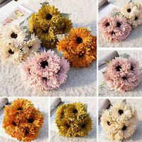 6 Heads Artificial Silk Chrysanthemum Plant Flower Bouquet Party Home Decors